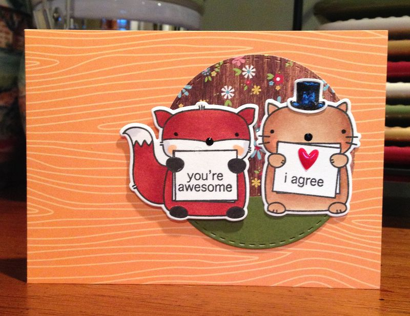 Youre awesome Karrnington card