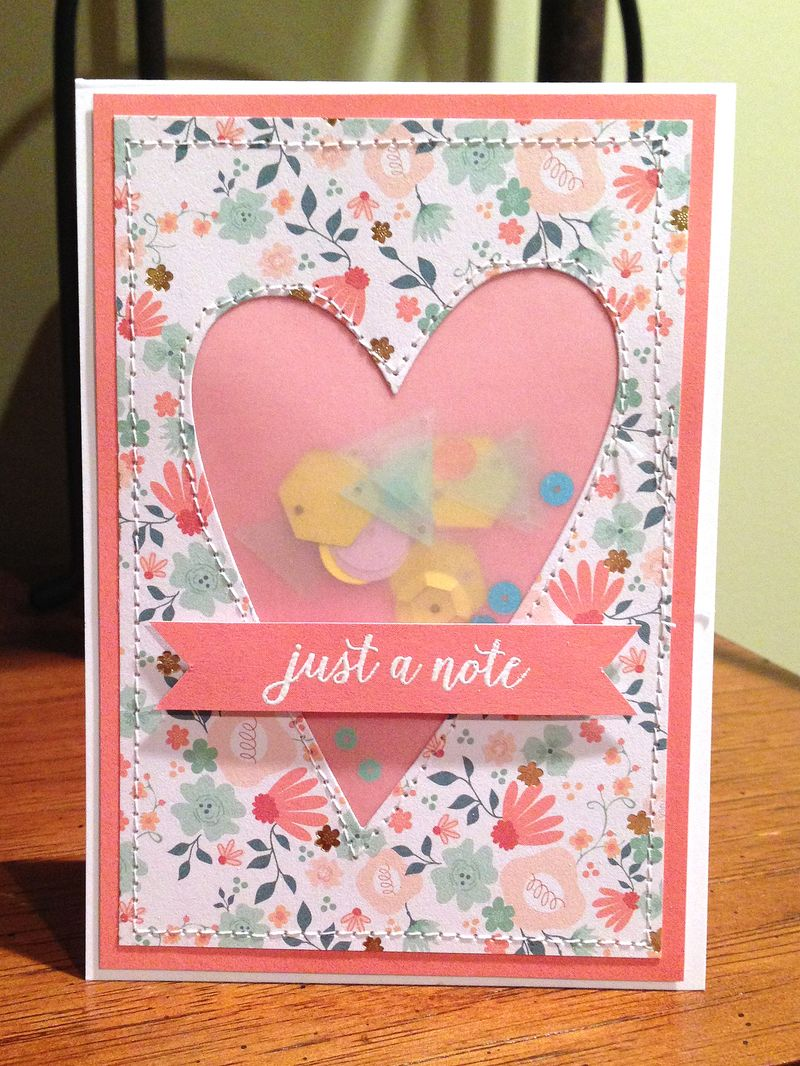 Just a note vellum card