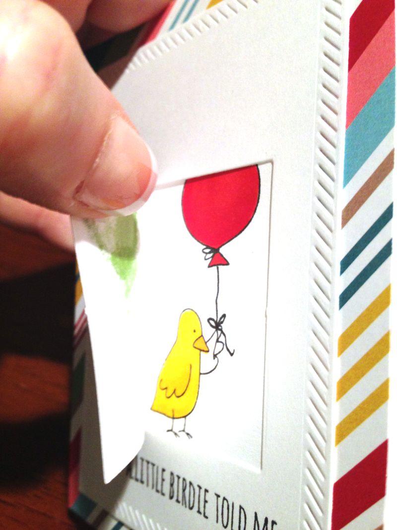 Little birdie window card 3