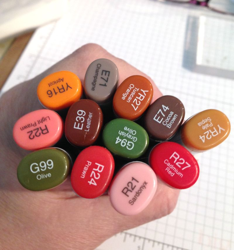 All Copic card markers