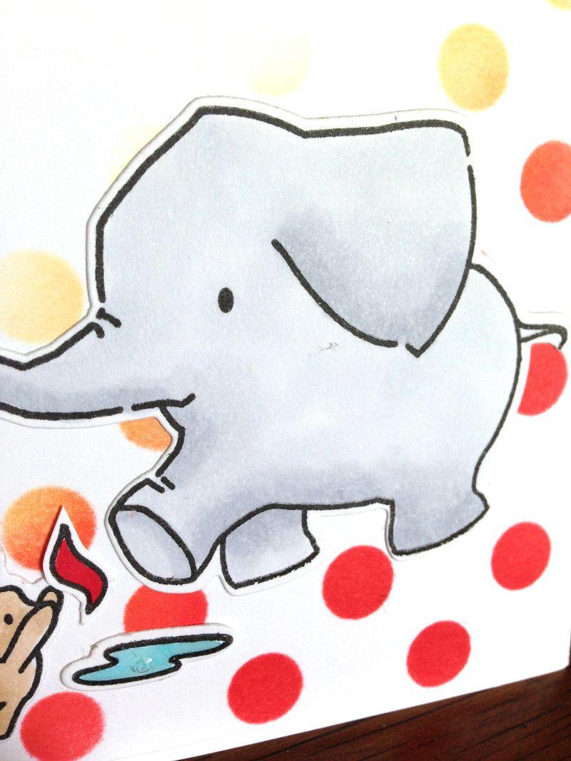 Elephant DI dots close up