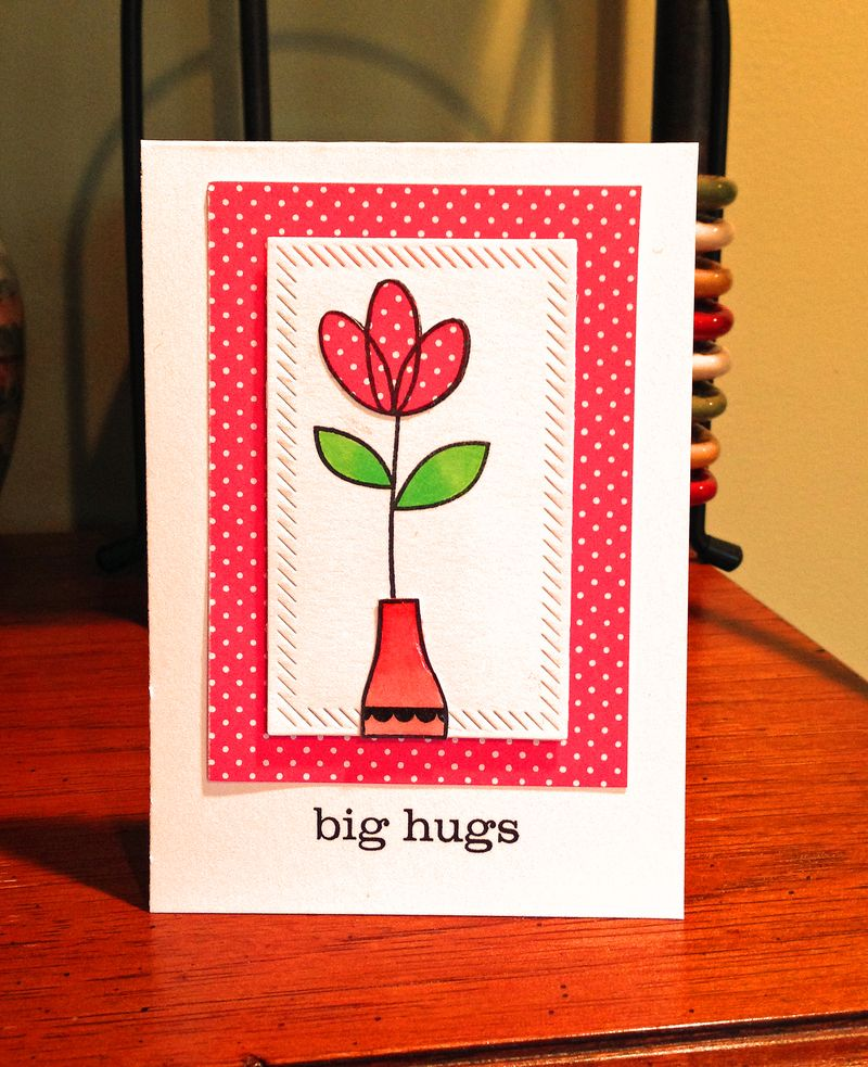 Paper Smooches Twiggy Big Hugs card