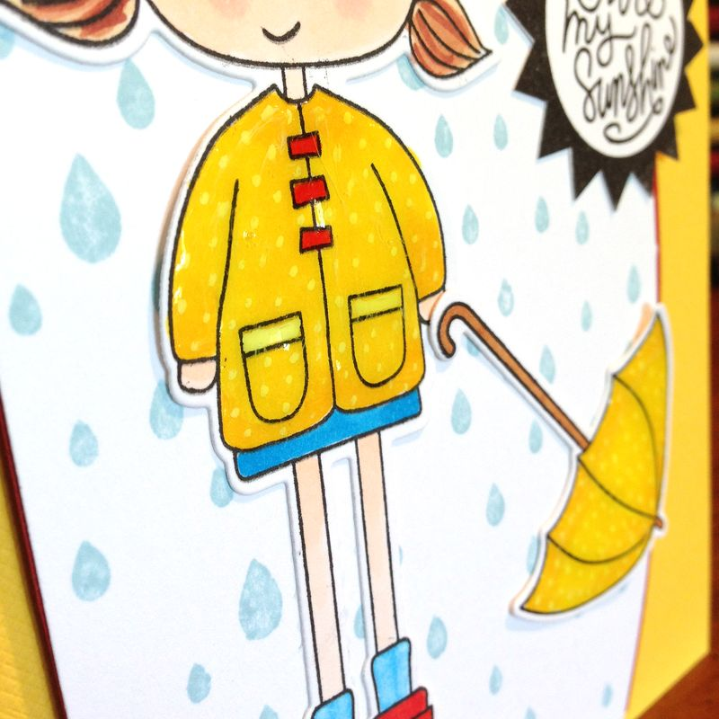 Abby rain card close up