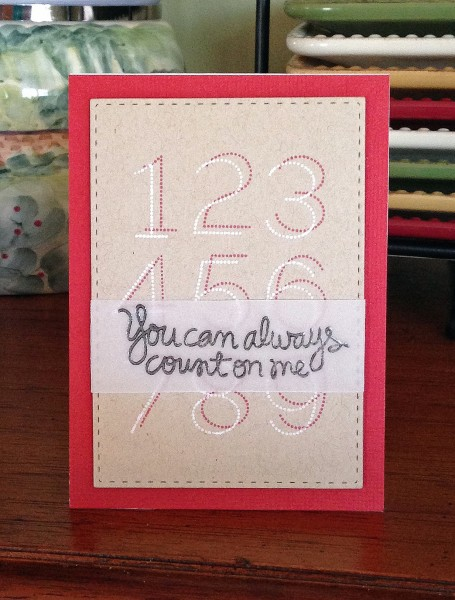 Count on me card 600