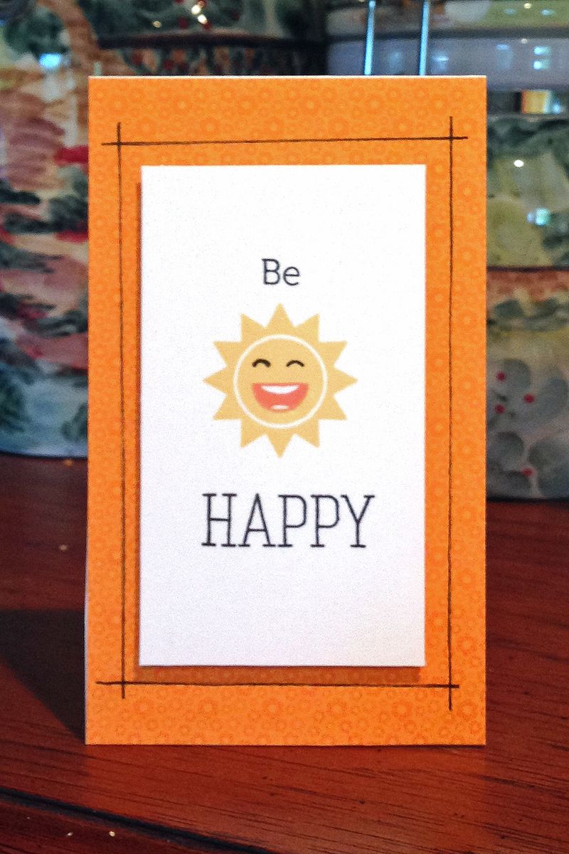 Be happy sun card