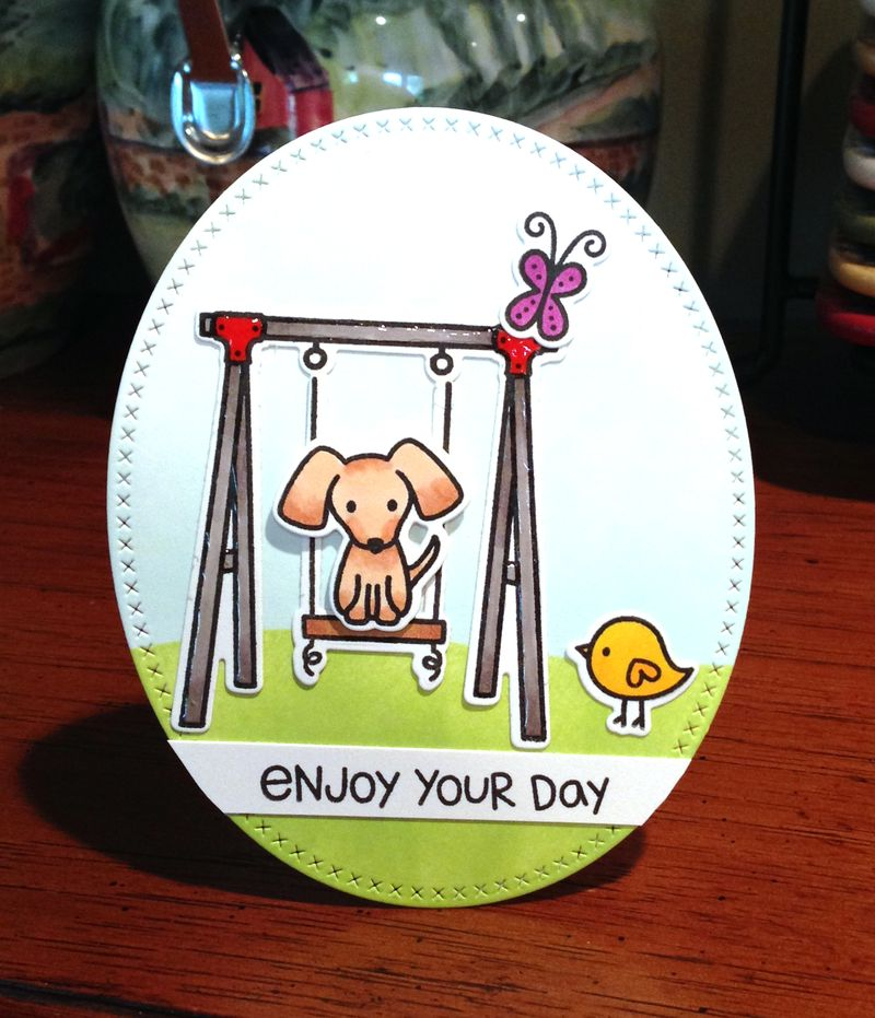 Lawn Fawn swingset card