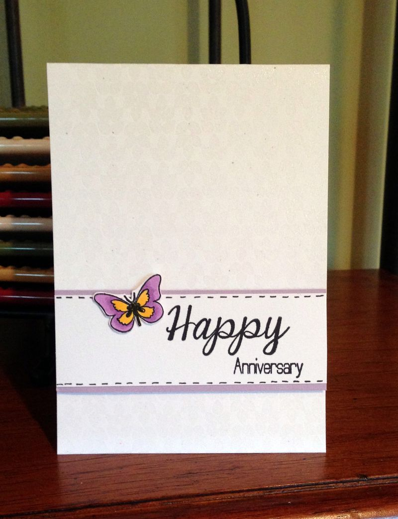 Happy Anniversary butterfly card