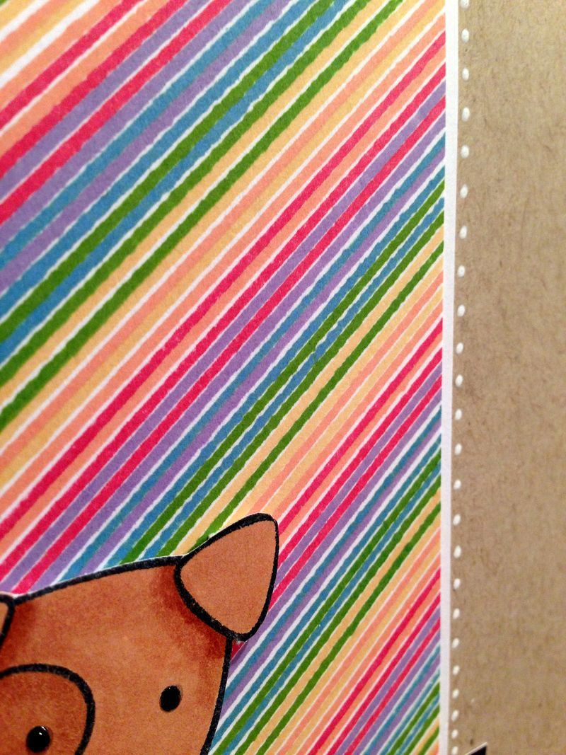 You inspire me striped card close up