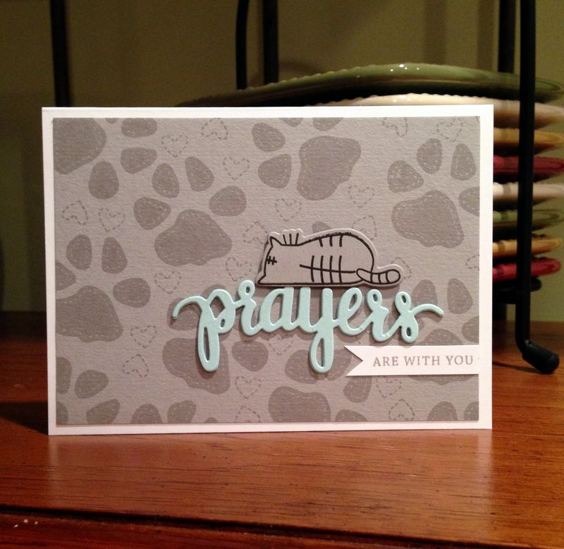 Prayers kitty card