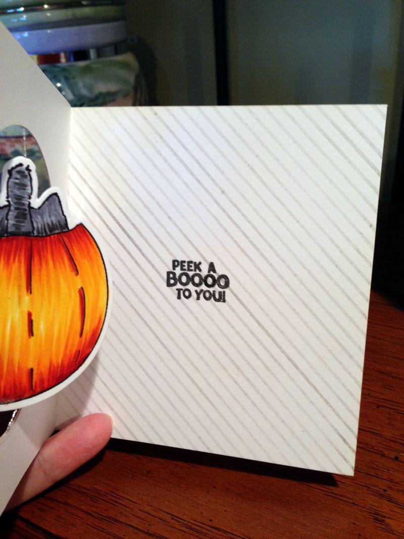 Pumpkin spinner card inside
