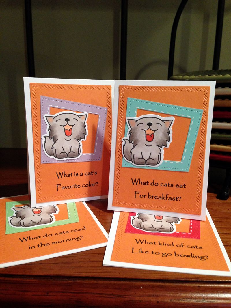 Cat jokes cards