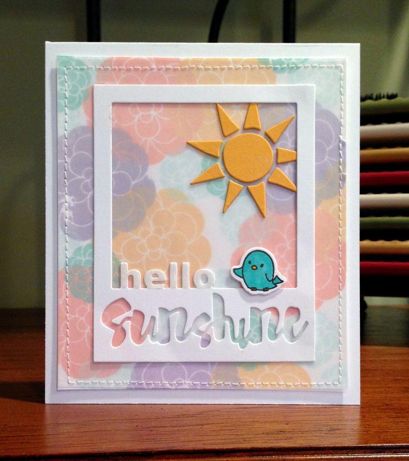 Hello Sunshine flower card