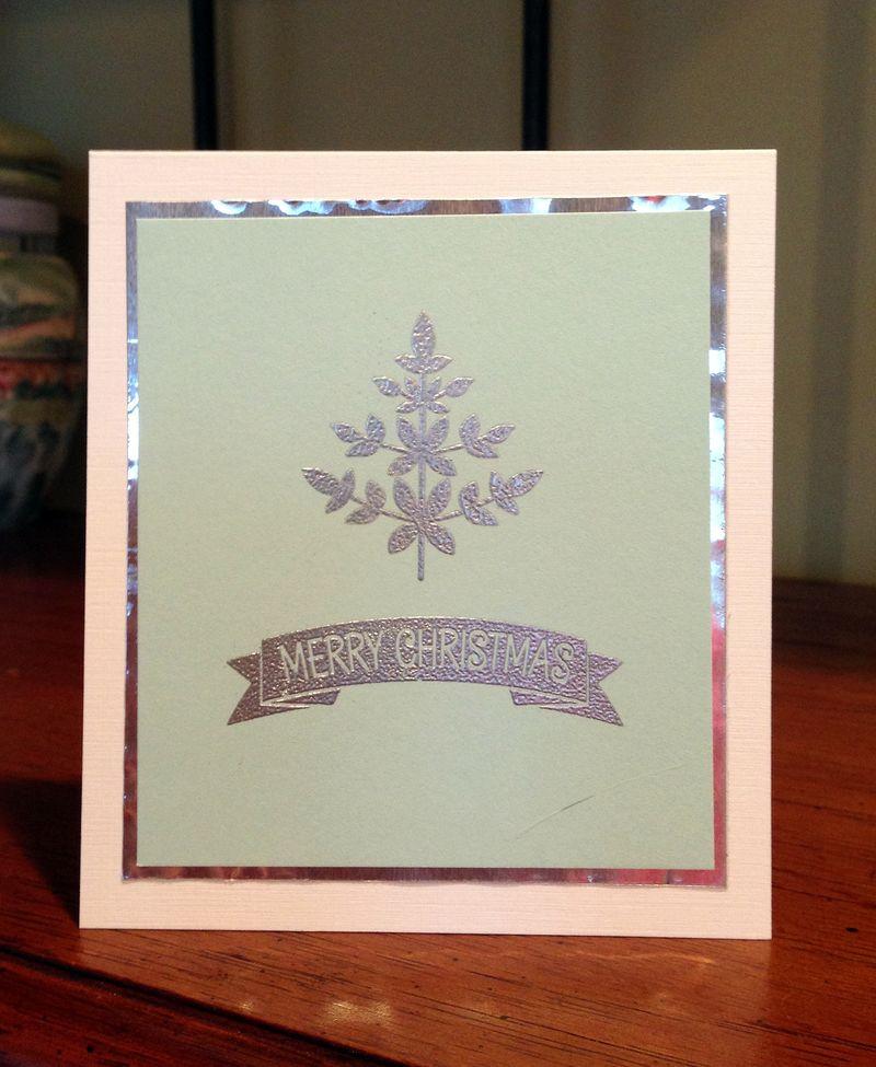 Silver foil card