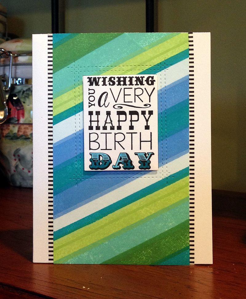 Stripes birthday card