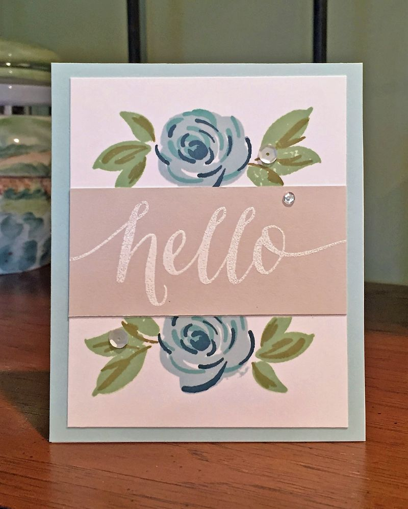 Wplus9 freehand floral hello card 2