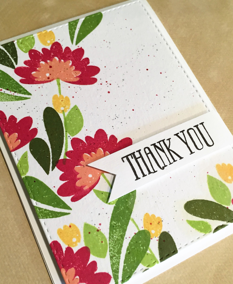 WPlus9 thanks card close up