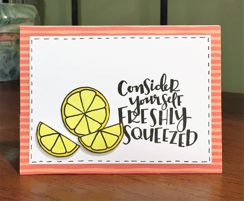 Freshly squeezed card