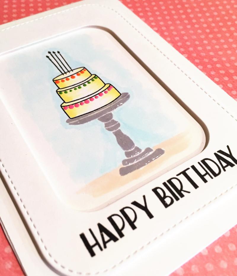 Stamptember birthday cake close up