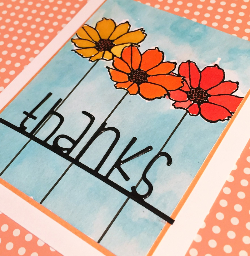 Oh happy day thanks card close up1