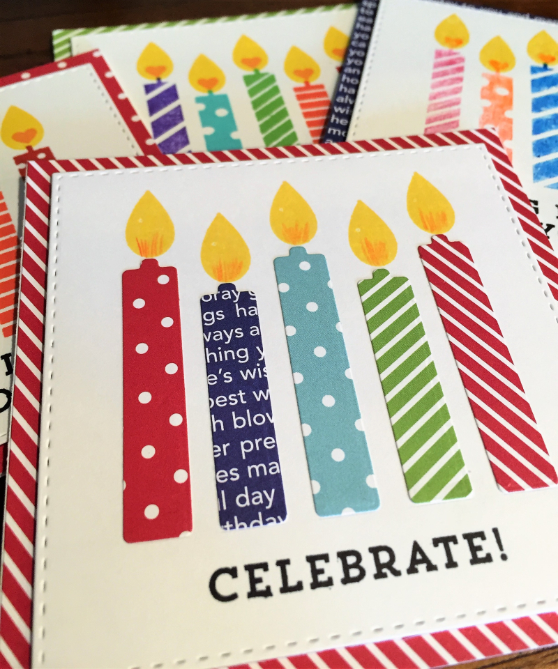 MFT Birthday card kit cards