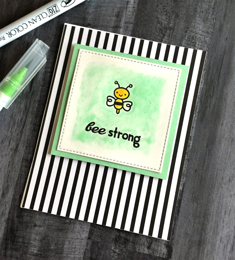 Bee Strong card