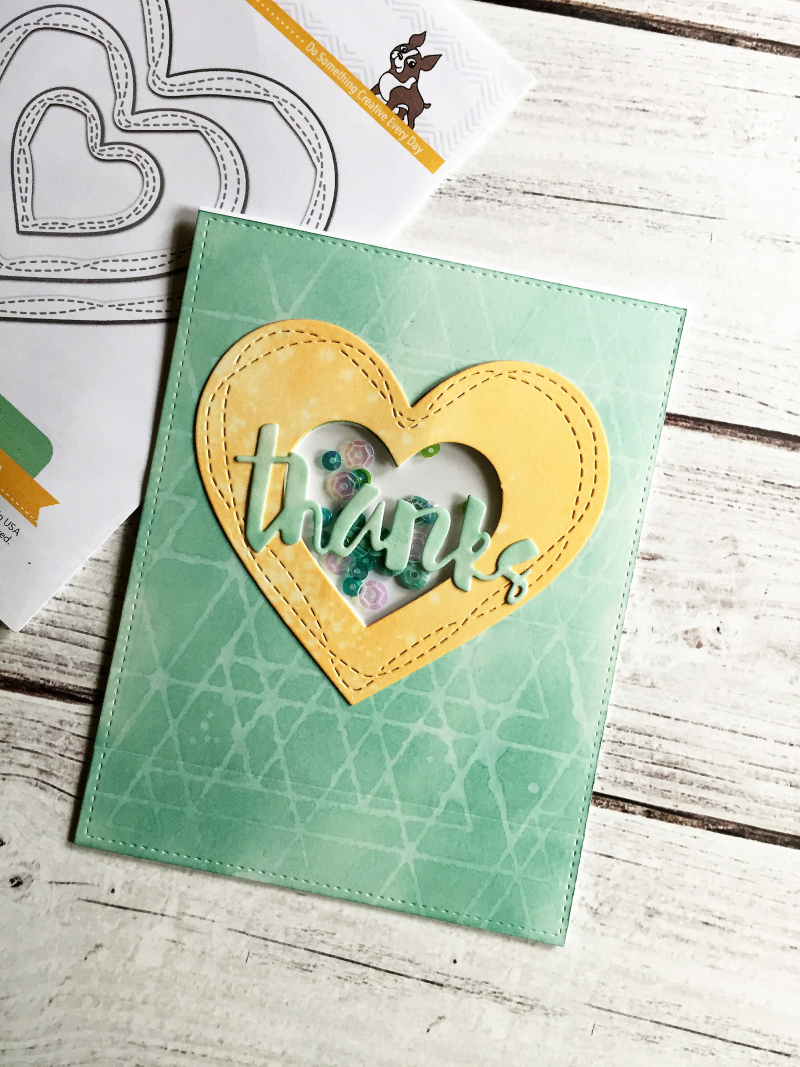 Wonky hearts card