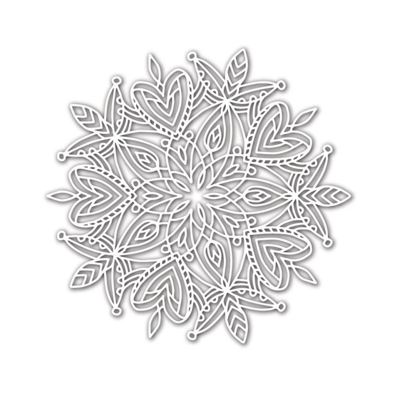 SSS Heart Mandala Stencil