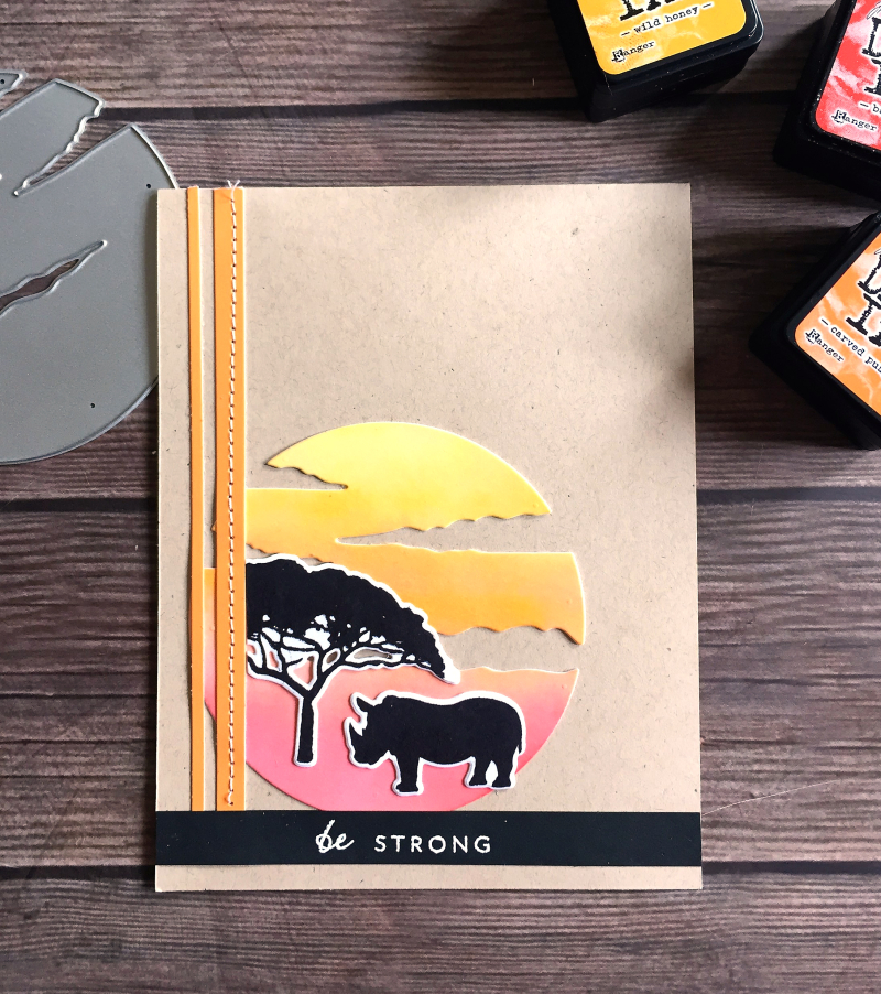 Be strong safari card