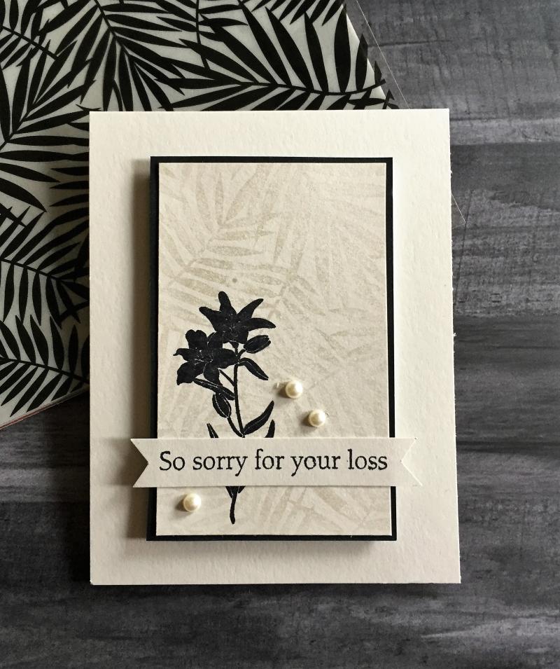 Aaron sympathy card