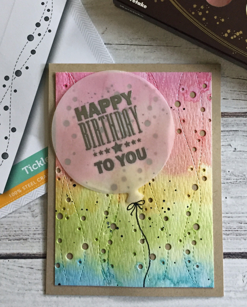 Balloon vellum birthday card