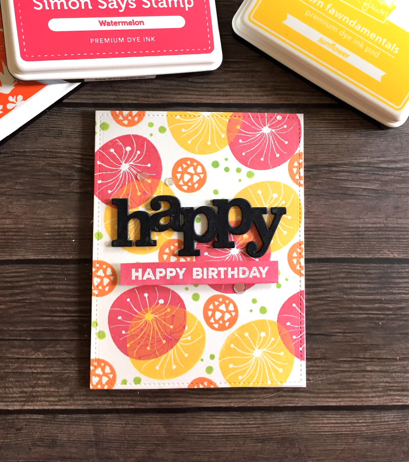 Layered background birthday card 1