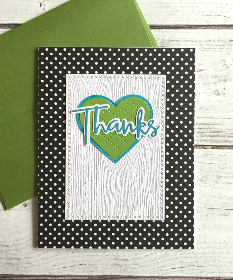 Thanks green heart card