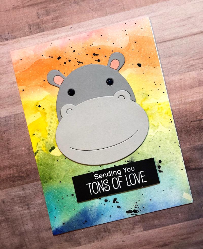 Big hippo card
