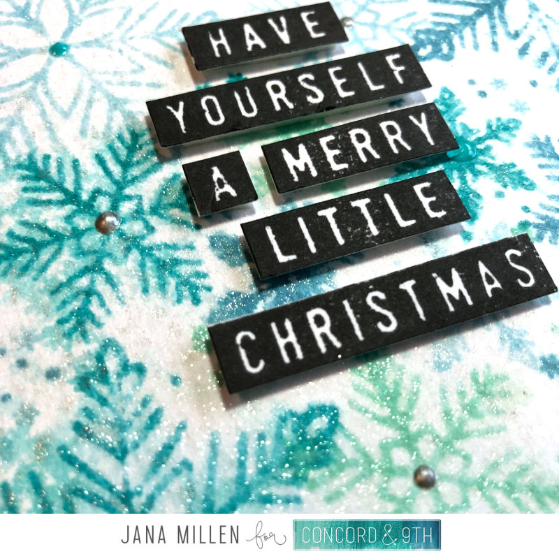 Merry Little Christmas snowflake card close up