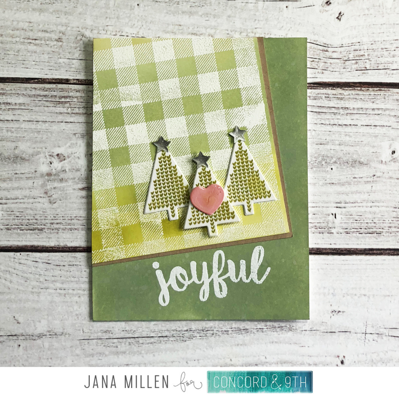 Joyful card copy with watermark
