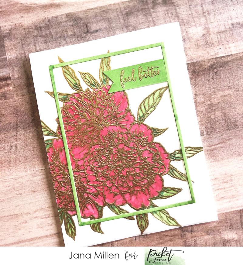 Jana Peony vellum card