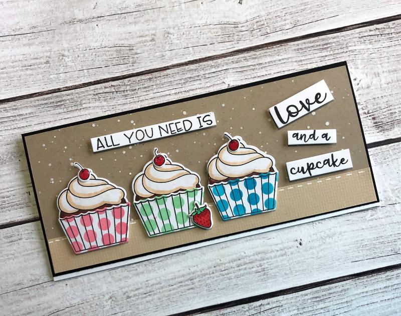HBS cupcakes card