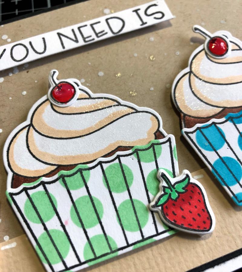 HBS cupcakes card close up