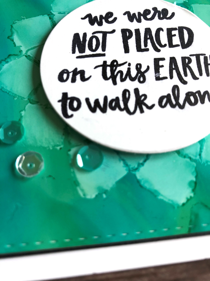 Walk alone card close up