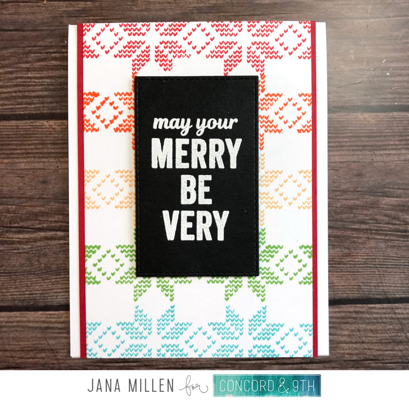 Merry be Merry card with footer