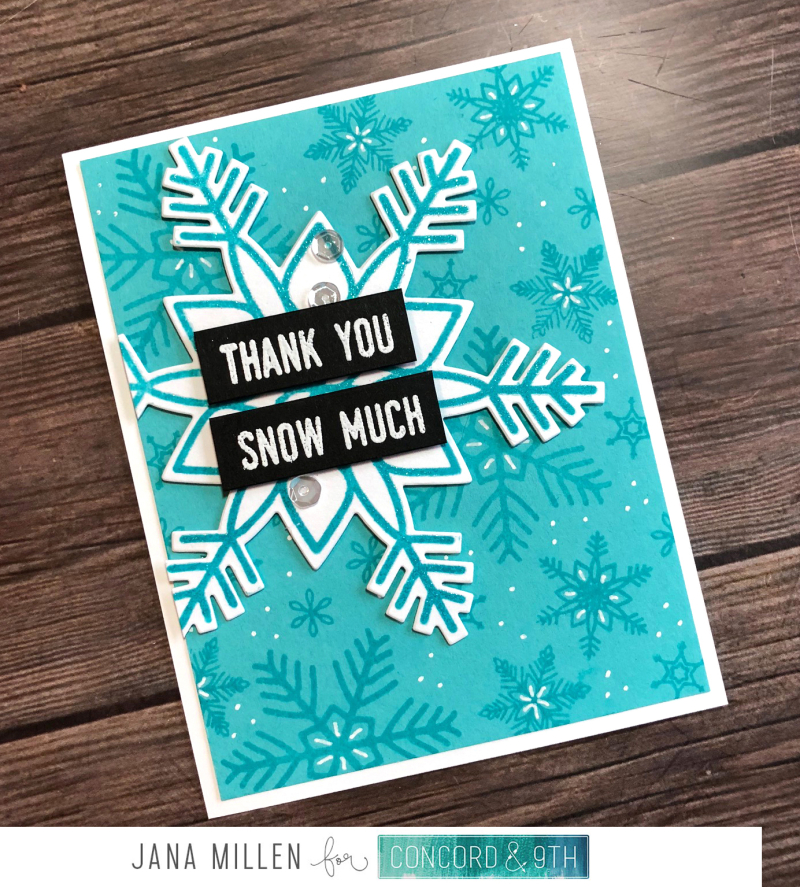 Thank you snow much card with footer