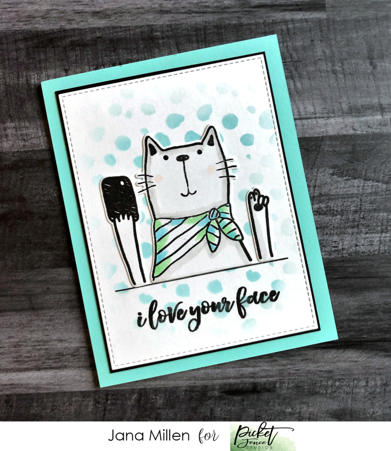 Love your face kitty card