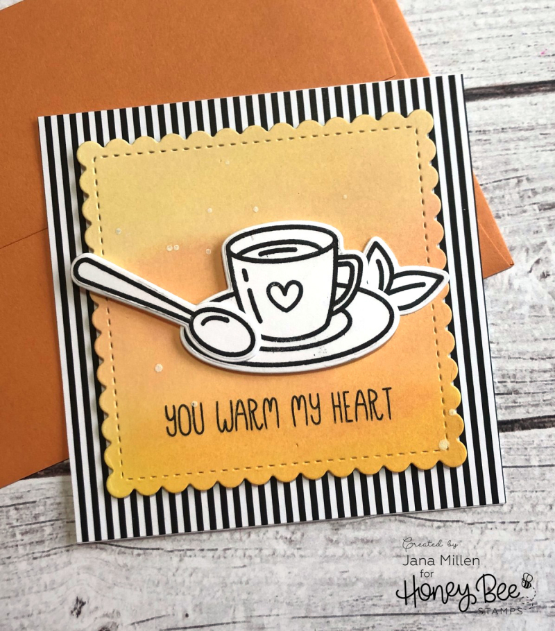 Tea blog hop card
