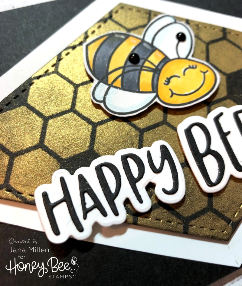 Bee Day card close up
