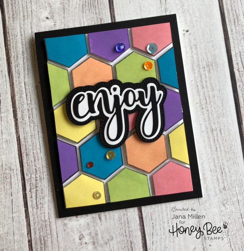 Enjoy hexagon card
