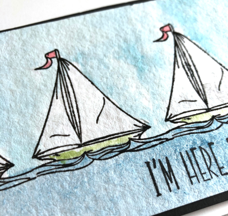 SSS Sailboats card close up