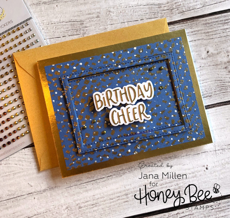 Birthday cheer confetti card