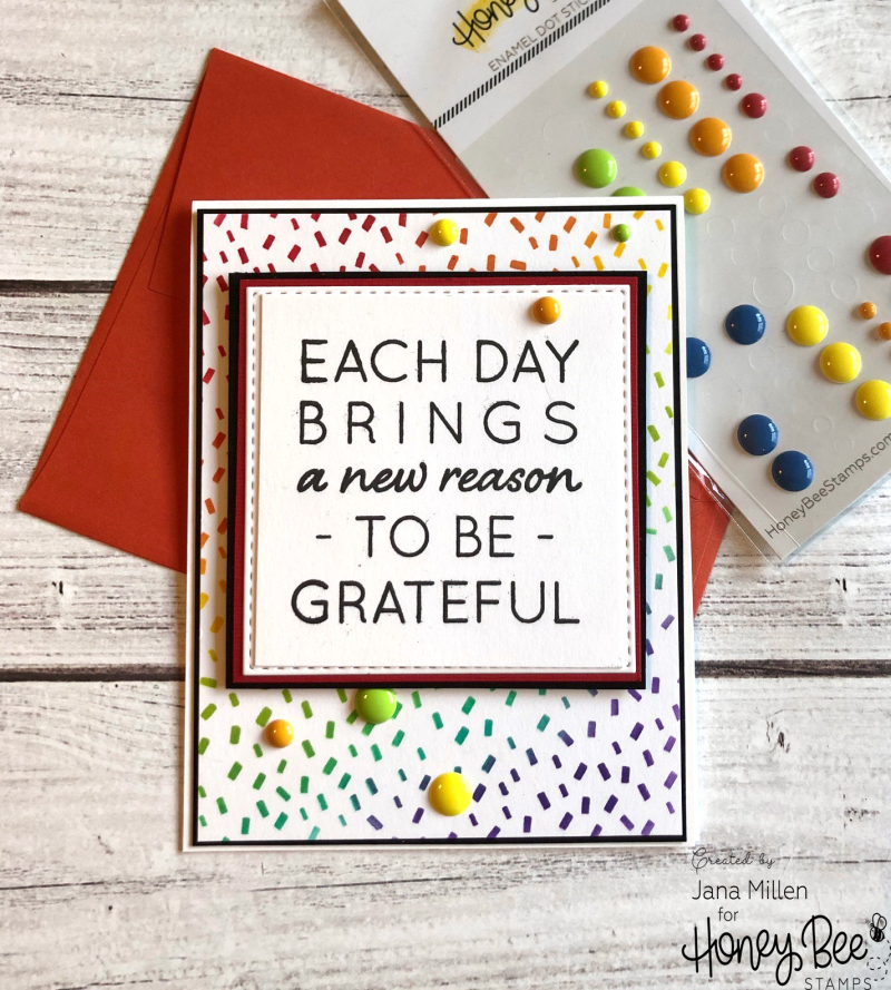 Each day confetti card