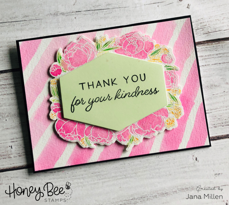 Hbs kindness pink blog hop card